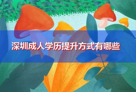 深圳成人学历提升方式有哪些〔最新备考资料〕