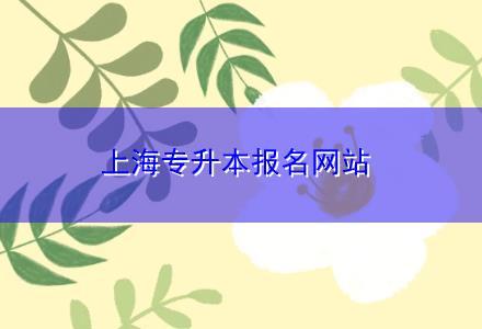 上海专升本报名网站