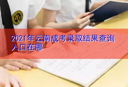 2021年云南成考录取结果查询入口在哪