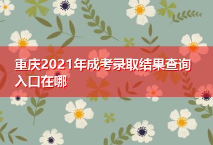 重庆2021年成考录取结果查询入口在哪