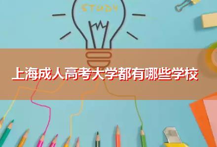 上海成人高考大学都有哪些学校