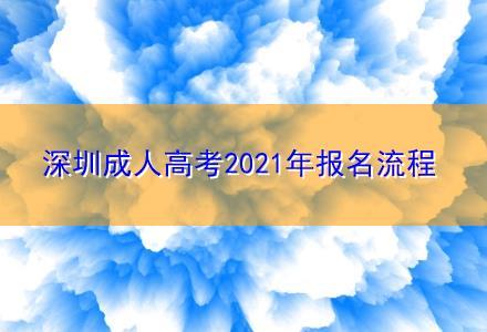 深圳成人高考2021年报名流程