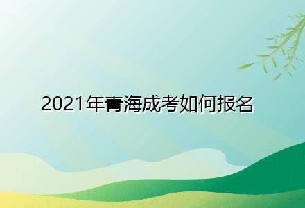 2021年青海成考如何报名