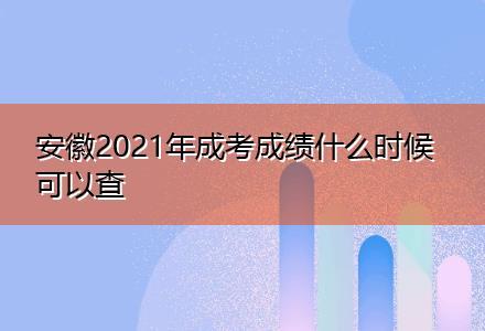 安徽2021年成考成绩什么时候可以查(升学圆梦计划)