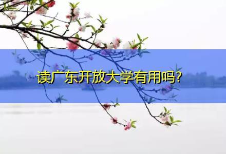 读广东开放大学有用吗?