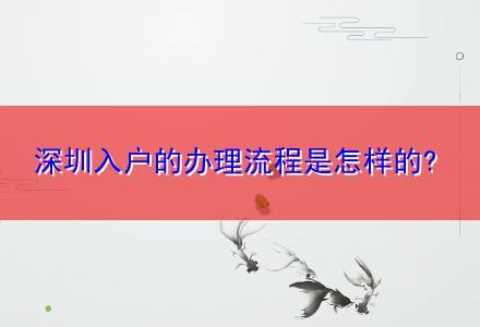深圳入户的办理流程是怎样的?