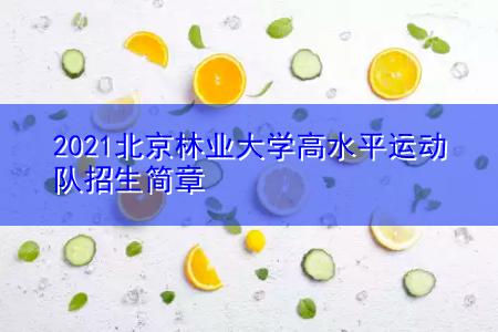 2021北京林业大学高水平运动队招生简章
