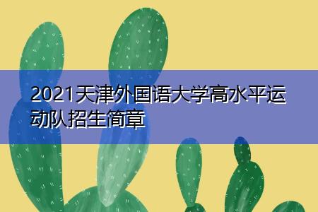 2021天津外国语大学高水平运动队招生简章
