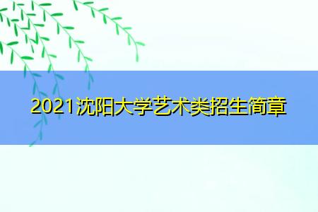 2021沈阳大学艺术类招生简章