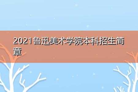 2021鲁迅美术学院本科招生简章