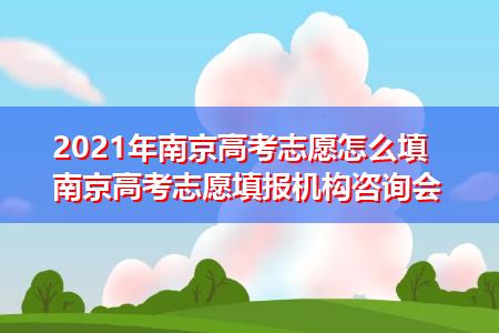 2021年南京高考志愿怎么填 南京高考志愿填报机构咨询会