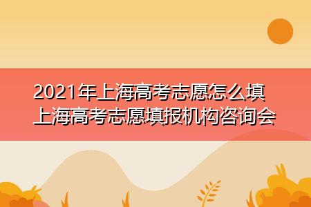 2021年上海高考志愿怎么填 上海高考志愿填报机构咨询会