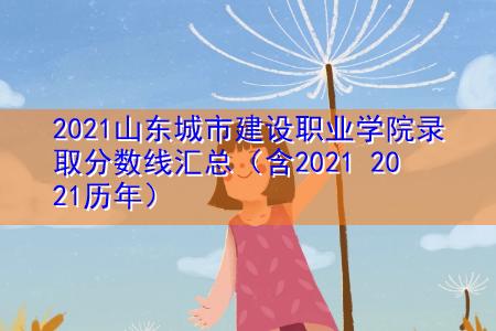 2021山东城市建设职业学院录取分数线汇总