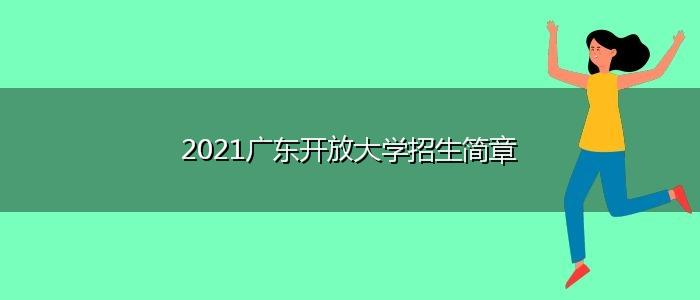 2021广东开放大学招生简章