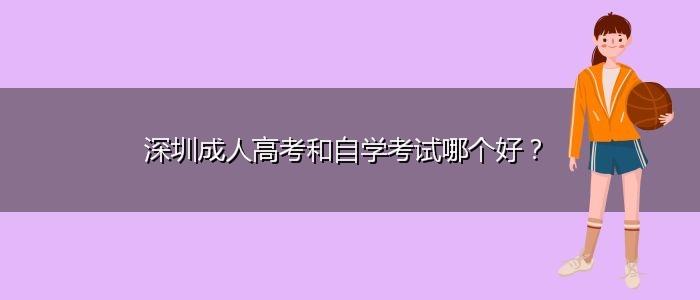 深圳成人高考和自学考试哪个好?