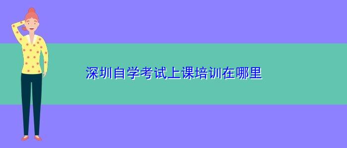深圳自学考试上课培训在哪里