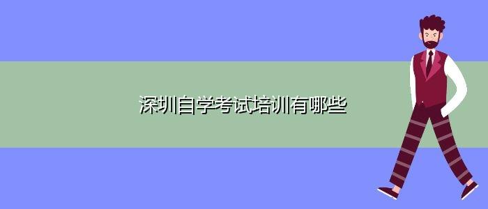 深圳自学考试培训有哪些
