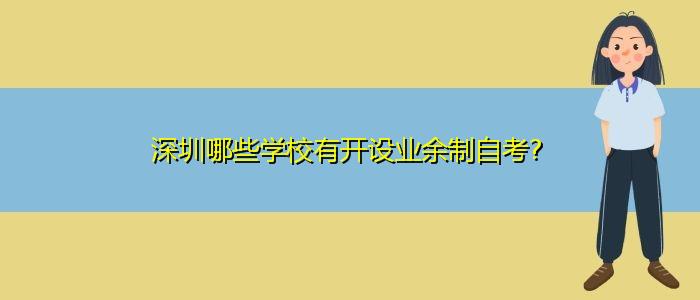 深圳哪些学校有开设业余制自考?