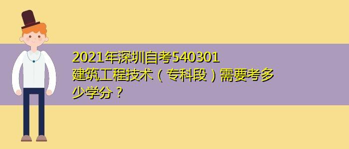 2021年深圳自考540301建筑工程技术(专科段)需要考多少学分?
