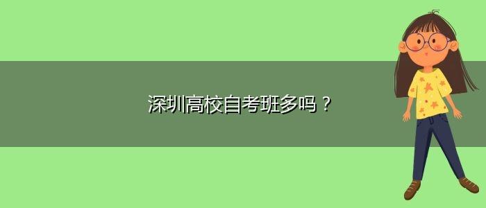 深圳高校自考班多吗?